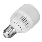 E27 7W LED Bulb Lamp Cool White Light  345lm 12-SMD - White + Silver