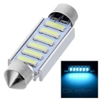 Double Festoon 41mm 2W 6 x 7020 SMD LED Ice Blue Light Bulb (DC 12V)