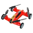 "SYMA X9 1.9"" LCD 2.4GHz 4-CH Fly & Drive Air-Ground Remote Control Quadcopter / Flying Car - Red"