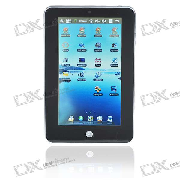 "7"" Touch Screen TFT LCD Google Android 1.6 Tablet PC w/ WiFi/Camera (VIA WM8505 ARM926)"