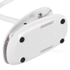 Fashionable Portable 3-Mode White Light Eye-Protection Desk Lamp w/ Clip, Smart Touch Switch - White