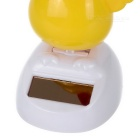 Solar Powered Dancing Chick Desk Table Decoration Car Decor - Yellow