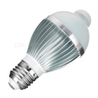 E27 5W 5-LED 6780K 395lm Cold White Light Control Human Body Inductive Bulb Lamp (AC 85-265V)