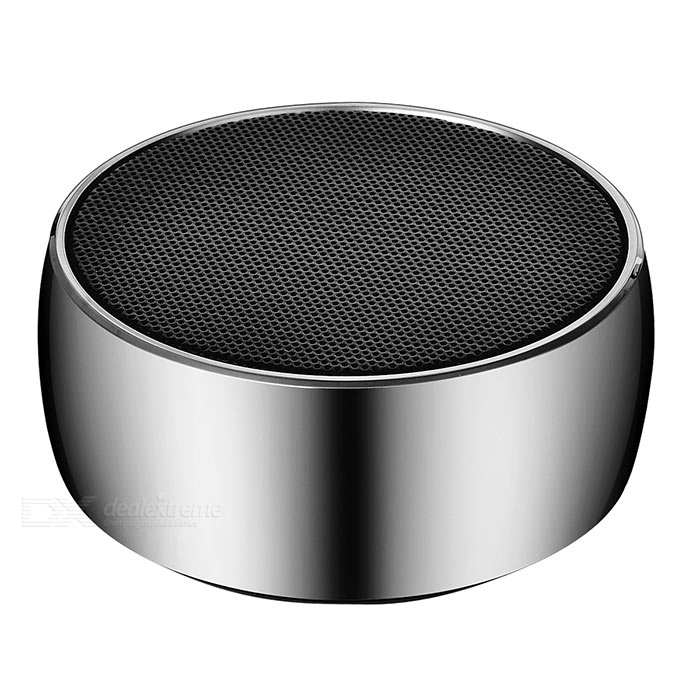 Aluminium Alloy Bluetooth V2.1+EDR Speaker w/ TF - BlackBluetooth Speakers<br>Form  ColorBlackMaterialAluminium alloy + ABS plasticQuantity1 DX.PCM.Model.AttributeModel.UnitShade Of ColorBlackBluetooth HandsfreeYesBluetooth VersionBluetooth V2.1Operating RangeWithin 10mTotal Power3.2 DX.PCM.Model.AttributeModel.UnitInterface3.5mm,Others,Micro USBMicrophoneYesSNR80dBSensitivity400MVFrequency Response80Hz-20KHzImpedance16 DX.PCM.Model.AttributeModel.UnitApplicable ProductsOthers,All Bluetooth devicesRadio TunerNoSupports Card TypeMicroSD (TF)Max Extended Capacity32GBBuilt-in Battery Capacity 600 DX.PCM.Model.AttributeModel.UnitTalk Time6~7 DX.PCM.Model.AttributeModel.UnitStandby Time48~60 DX.PCM.Model.AttributeModel.UnitMusic Play Time6~7 hoursPacking List1 x Bluetooth speaker1 x Chinese / English manual1 x USB charging cable (30cm±2cm)1 x 3.5mm audio cable (30cm±2cm)<br>