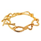 Xinguang Women's Love Relay Crystal Gold Bracelet - Golden