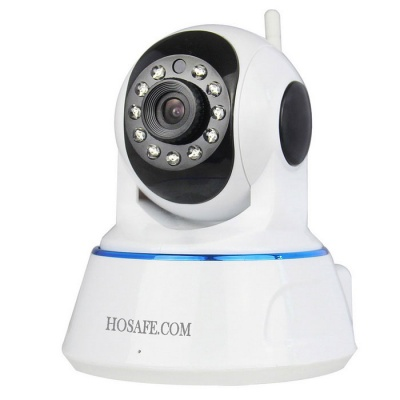 HOSAFE 720P 1MP Wireless Security IP Camera - White (EU Plug)