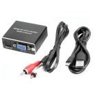 HDMI til VGA audio converter adapter RCA 3,5 mm audio og SPDIF / Toslink