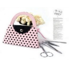 Stainless Steel Beauty Nail Art Manicure Tool Set - Pink + Black