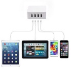 GeekRover Universal 4-USB Adapter Wall Charger US AC Plug - White