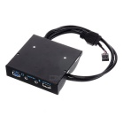 "CY USB 3.0 Single Port 3.5"" Metal Front Panel w/ USB 2.4A Charging Port & HD Audio Output - Black"