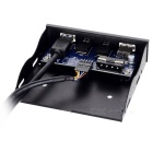 "CY USB 3.0 3.5"" Front Panel w/ USB Charging Port, Audio Output - Black"