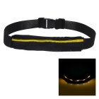 Outdoor Sports Running Jogging 3-Mode Yellow Light LED Safety Waist Bag Pouch Pack - Black + Yellow