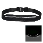 Outdoor Sports Running Jogging 3-Mode White Light LED Safety Waist Bag Pouch Pack - Black + White
