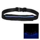 Outdoor Sports Running Jogging 3-Mode Blue Light LED Safety Waist Bag Pouch Pack - Black + Blue