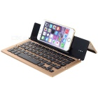 F18 58-Key Bluetooth Wireless Keyboard for APPLE + More - Gold + Black