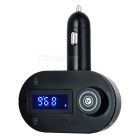 "1.2"" bil BT handsfree MP3-spiller FM-sender m / lader, TF - svart"