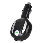 "1.1"" carro BT MP3 player transmissor FM w / carregador, TF - preto + prata"