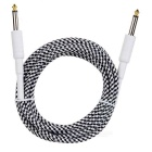 6.35mm Male to 6.35mm Male Audio Connection Signal Cable Guitar Line - White + Black (309cm)