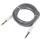 6.35mm to 6.35mm M-M Audio Cable Guitar Line - White + Black (309cm)