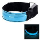 CTSmart Blue Light 3-Mode LED Safety Warning Strap Arm Band - Blue