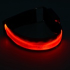 CTSmart Red Light 3-Mode LED Safety Warning Strap Arm Band - Red