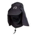 Wind Tour Outdoor 360 Degree Protection Quick-drying Breathable Anti-UV Sunhat - Dark Grey