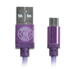 Hat-Prince Data & Charging Cable for Samsung S6 + More - Purple (1m)