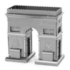 Metallic Steel Nano 3D DIY Triumphal Arch Jigsaw Puzzle Model - Grey