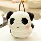 Cartoon Cute Panda Style Plush Warm Earmuffs - White + Black