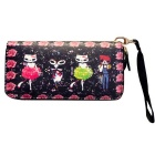 Cute Cartoon Pattern PU Long Wallet for Women - Multi-Colored