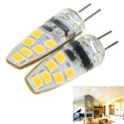 G4 6W LED Light Bulb Lamp Warm White 3000K 600lm 12-SMD 2835 (2PCS)