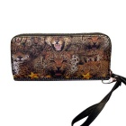Fashionable Leopard Print PU Long Wallet Purse Clutch for Women - Yellow