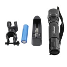 KINFIRE K01 XML T6 LED 600lm 5-Mode Bicycle Light Flashlight w/ Clip + 18650 Battery Charger