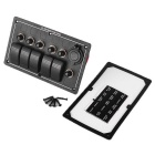 Waterproof Car Boat Rocker Switch Panel w/ Dual USB Charger