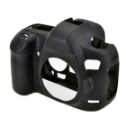 Durable Silicone Protective Case Cover Housing Cage for Canon 5D3 DSLR Cameras - Black