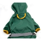 Glisten Bar Hoody Waterproof Raincoat Pet Dog Cat Jacket - Green (XXL)