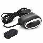USB Charger + Micro USB Adapter for Tablets + More - Black (US Plugs)