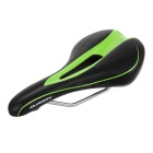 QUARRY KR11051 Hollow Water-Resistant PU Leather Bike Bicycle Saddle Seat Cushion - Black + Green