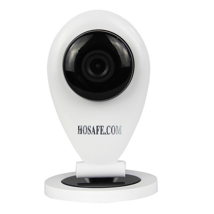 HOSAFE 90-Degree 1.0MP HD Wireless IP Camera - White (EU Plug)