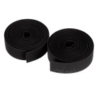 Bike Soft TPR Anti-Slip Handlebar Tapes Wraps Set w/ Bar Plugs - Black