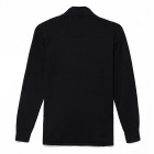 KUEGO Men's Fashionable Cotton Cardigan Sweater - Black (XXL)