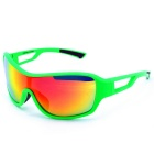 OSSAT 100% UV Protection Red REVO Lens Rectangle Sports Glasses - Army Green + Black