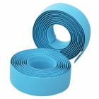 Bike Soft TPR Anti-Slip Handlebar Tapes Wraps Set w/ Bar Plugs - Blue