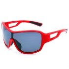 OSSAT 100% UV 400 Protection Grey Polarized Lens Sports Glasses - Red + Black