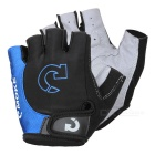MOke Outdoor Cycling Riding Bike Motorcycle Anti-Slip Half-Finger Gloves - Black + Blue (M / Pair)
