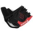 MOke Bike Motorcycle Anti-Slip Half-Finger Gloves - Black + Red (XL)