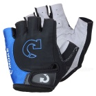 MOke Outdoor Cycling Riding Bike Motorcycle Anti-Slip Half-Finger Gloves - Black + Blue (L / Pair)
