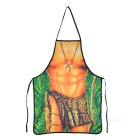 Sexy Jungle Man Pattern Funny Polyester Apron - Brown + Green