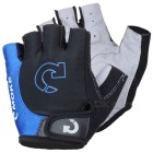 MOke Outdoor Cycling Riding Bike Motorcycle Anti-Slip Half-Finger Gloves - Black + Blue (XL / Pair)