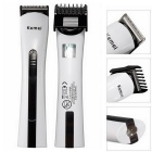 KEMEI KM-2516 Portable Rechagable Electronic Hair Clipper Shaver Razor - White